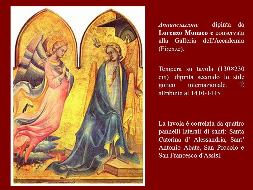 Trittico dellAnnunciazione eseguito da Simone Martini nel 1333 per la Cappella di SantAnsano nel Duomo di Siena e attualmente conservato nel Museo deg