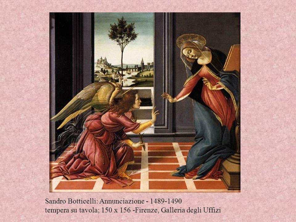 Annunciazione dipinta da Lorenzo Monaco e conservata alla Galleria dell'Accademia (Firenze). Tempera su tavola (130×230 cm), dipinta secondo lo stile