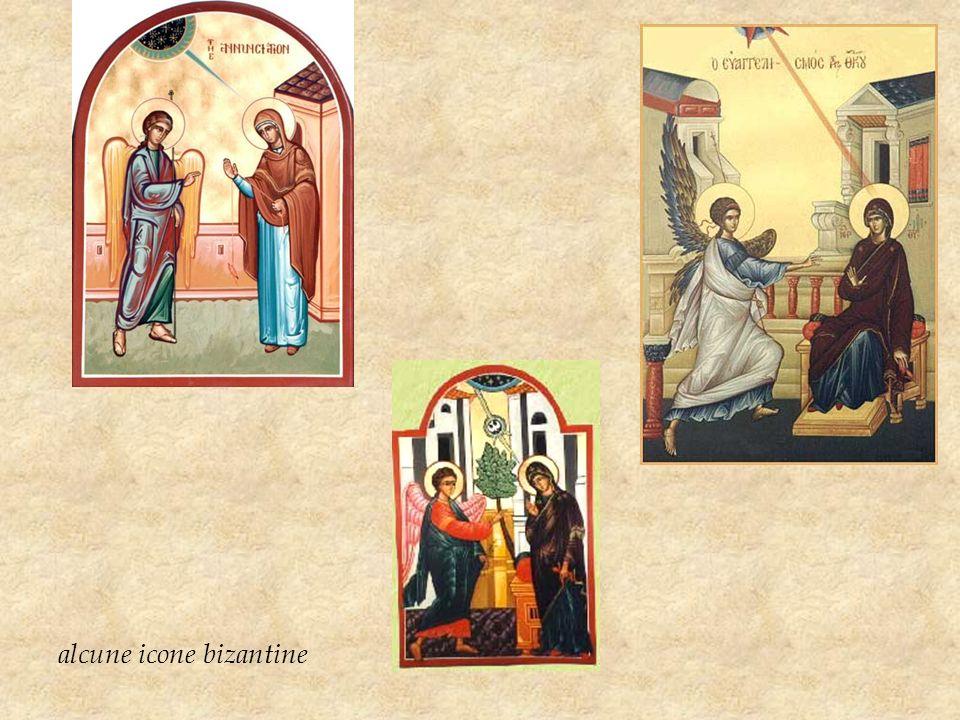 Una delle immagini più antiche dellAnnunciazione è licona conosciuta come lAnnunciazione di Ustiug dipinta nella prima metà del XII secolo a Novgorod