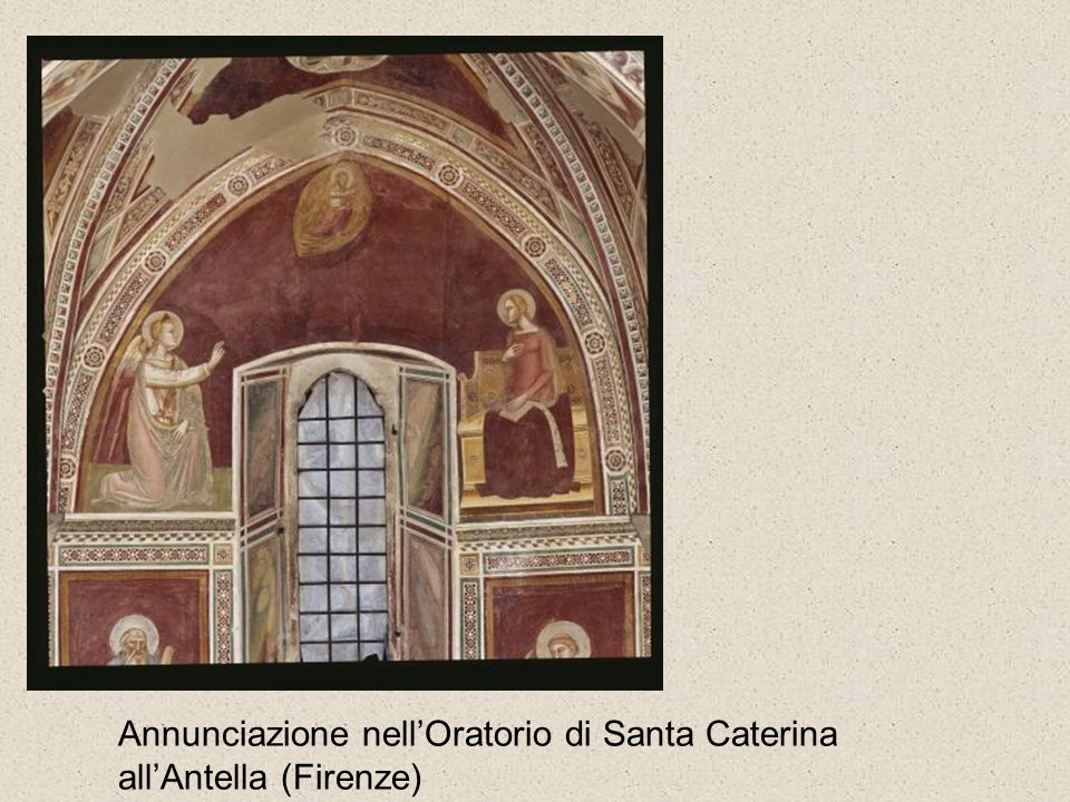 Per analizzare le raffigurazioni dellAnnunciazione è importante osservare: la raffigurazione dellAngelo e della Madonna; la loro posizione reciproca;