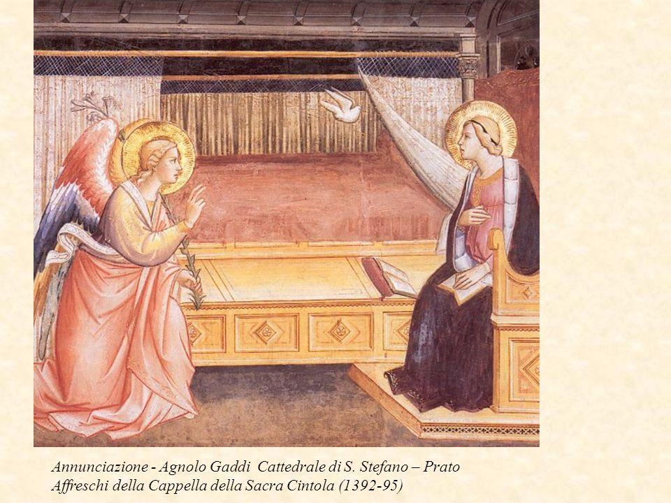 Gabriele appare alla Madonna mentre attinge acqua al pozzo, mosaico, XII secolo, Basilica di San Marco, Venezia.