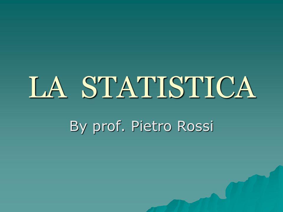 La STATISTICA può essere vista La STATISTICA può essere vista come la scienza che organizza ed analizza informazioni (dati quantitativi e/o qualitativi) per fini descrittivi o per fare previsioni.