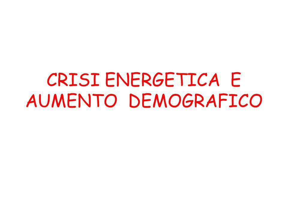 CRISI ENERGETICA E AUMENTO DEMOGRAFICO