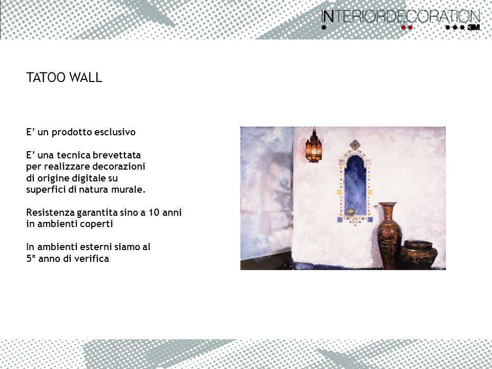 E un prodotto esclusivo E una tecnica brevettata per realizzare decorazioni di origine digitale su superfici di natura murale. Resistenza garantita si