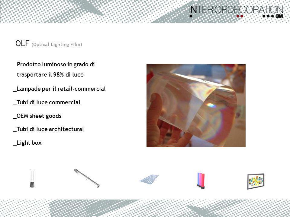 Prodotto luminoso in grado di trasportare il 98% di luce OLF (Optical Lighting Film) _Lampade per il retail-commercial _Tubi di luce commercial _OEM s