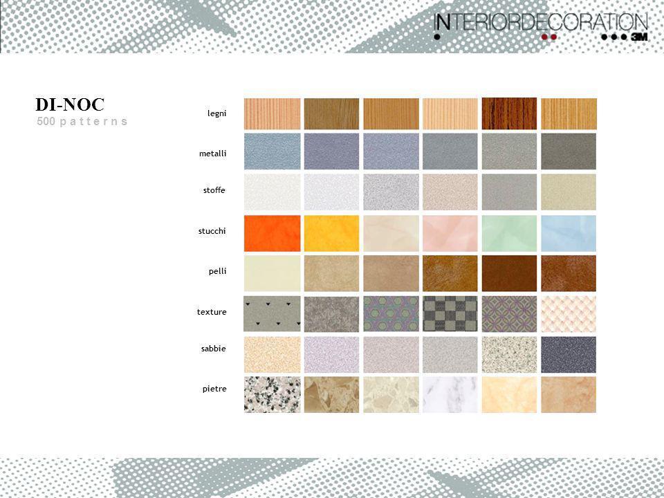 legni metalli stoffe stucchi pelli texture sabbie pietre 500 p a t t e r n s DI-NOC