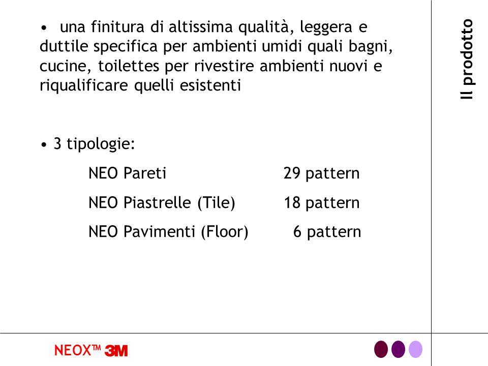 NEOX costruzione NEOX tutte le serie NEOX sono provviste di un eccellente adesivo con tecnologia Comply per una facile e veloce applicazione NEOX