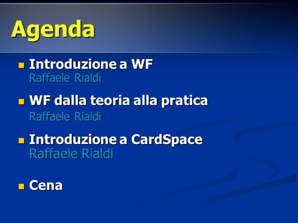 Introduzione a WF Raffaele Rialdi Introduzione a WF Raffaele Rialdi WF dalla teoria alla pratica WF dalla teoria alla pratica Raffaele Rialdi Raffaele