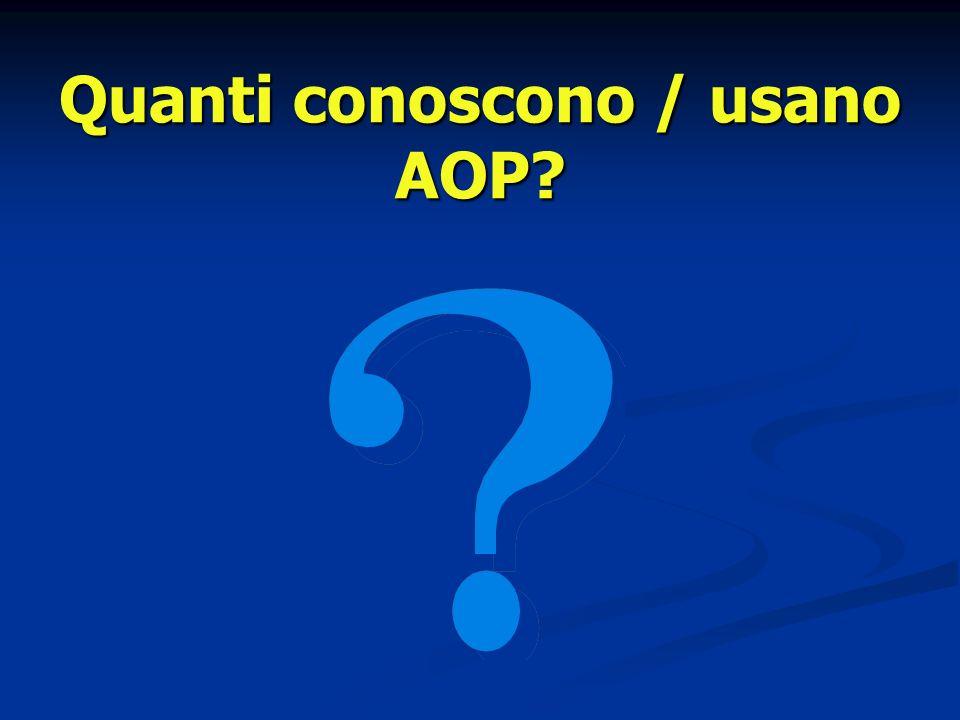 Quanti conoscono / usano AOP?