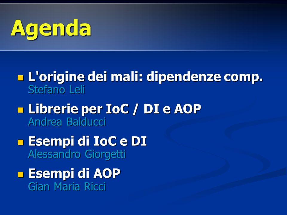 L origine dei mali: dipendenze comp.Stefano Leli L origine dei mali: dipendenze comp.