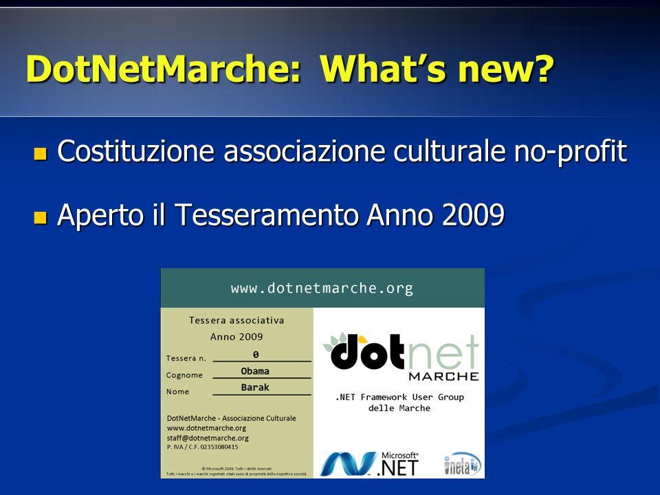DotNetMarche: Whats new.