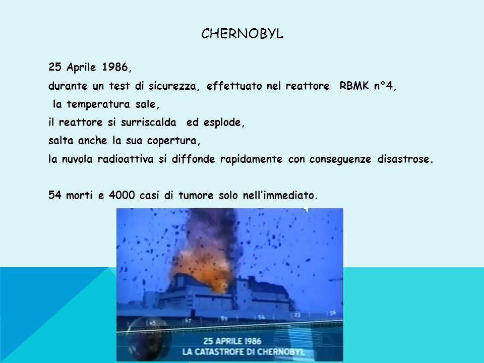 CHERNOBYL 25 Aprile 1986, durante un test di sicurezza, effettuato nel reattore RBMK n°4, la temperatura sale, il reattore si surriscalda ed esplode,