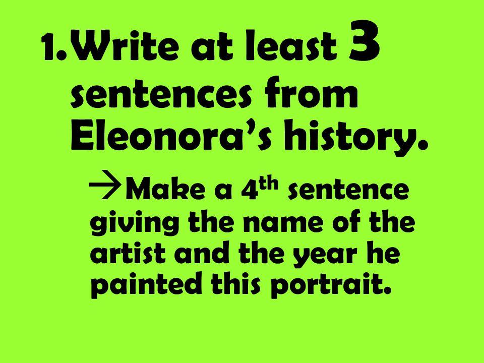 Eleonora ha i capelli _______________ e _________________. Ha lacconciatura _______________.