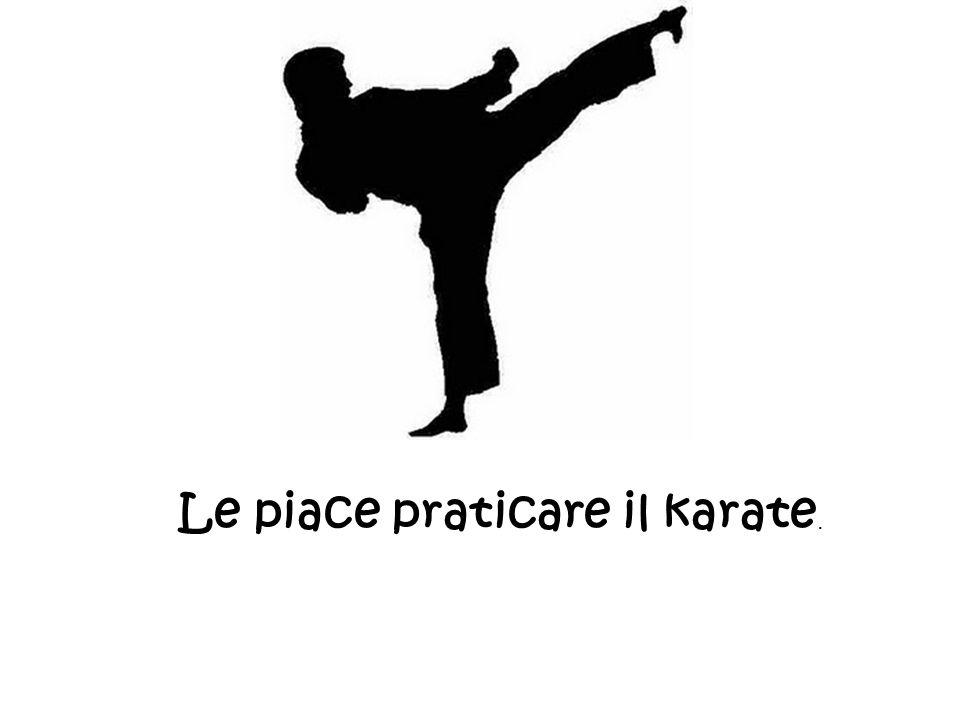 Le piace praticare il karate.