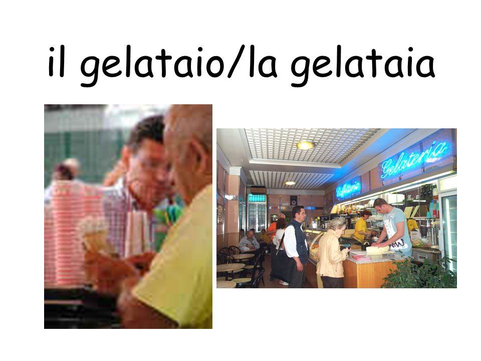 il gelataio/la gelataia