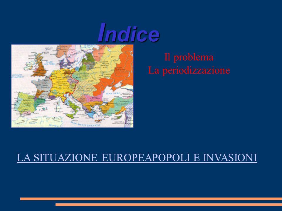 I ndice Il problema La periodizzazione LA SITUAZIONE EUROPEAPOPOLI E INVASIONI