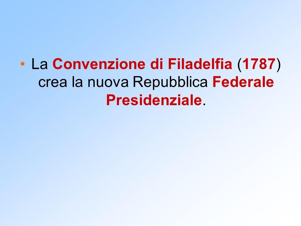 La costituzione degli USA Esecutivo: Presidente eletto dal popolo.