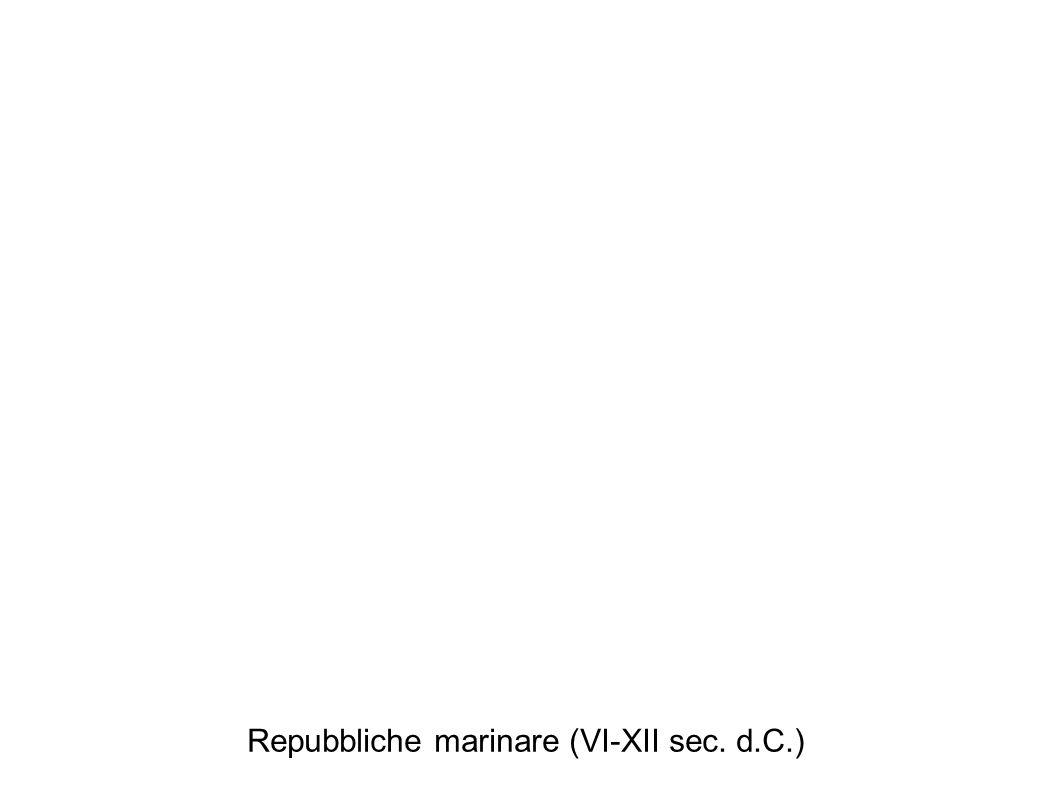 Repubbliche marinare (VI-XII sec. d.C.)