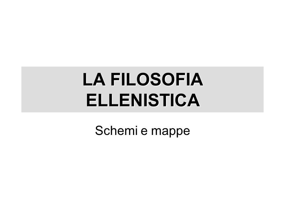 Schemi e mappe LA FILOSOFIA ELLENISTICA