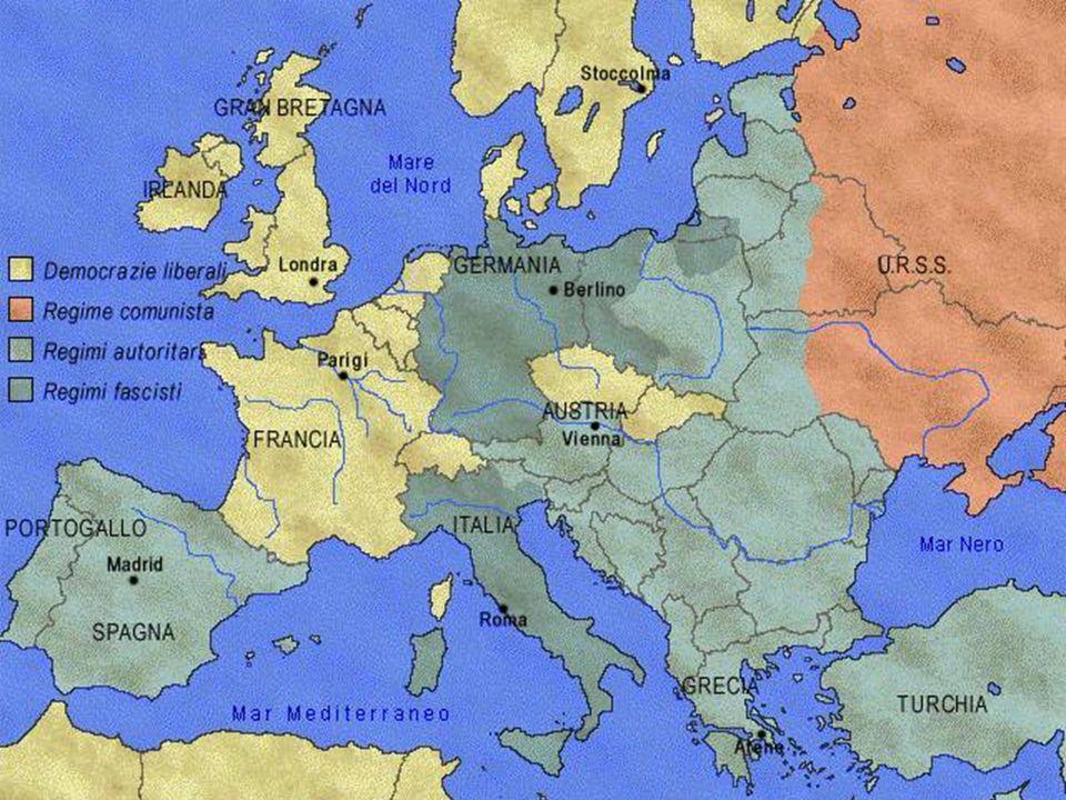 Cause del conflitto La politica aggressiva della Germania iniziata da Hitler con: la militarizzazione della Renania(1934) lannessione-anschluss dellAustria (1938) lannessione dei Sudeti (1938) loccupazione di Boemia e Moravia, smembramento della Cecoslovacchia (consentita dal fallimento della Conferenza di Monaco 1938) Latto di forza di Mussolini che occupa Etiopia(1934) e Albania (1939)indifferente al divieto della Società delle Nazioni La politica dellappeasement praticata da Francia e Inghilterra : Hitler viene considerato un baluardo anticomunista Il pesante ricordo del recente conflitto e la paura di nuove carneficine impedisce una politica ferma verso le aggressioni naziste nella speranza che Hitler si fermi ottenuto ciò che voleva http://www.youtube.com/watch?v=DPmUXLgTcUY