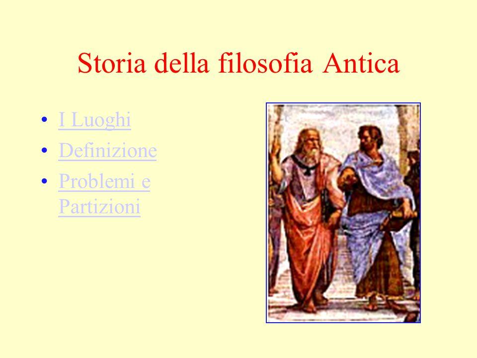 Storia della filosofia Antica I Luoghi Definizione Problemi e PartizioniProblemi e Partizioni