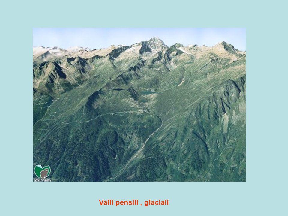 Valli pensili, glaciali