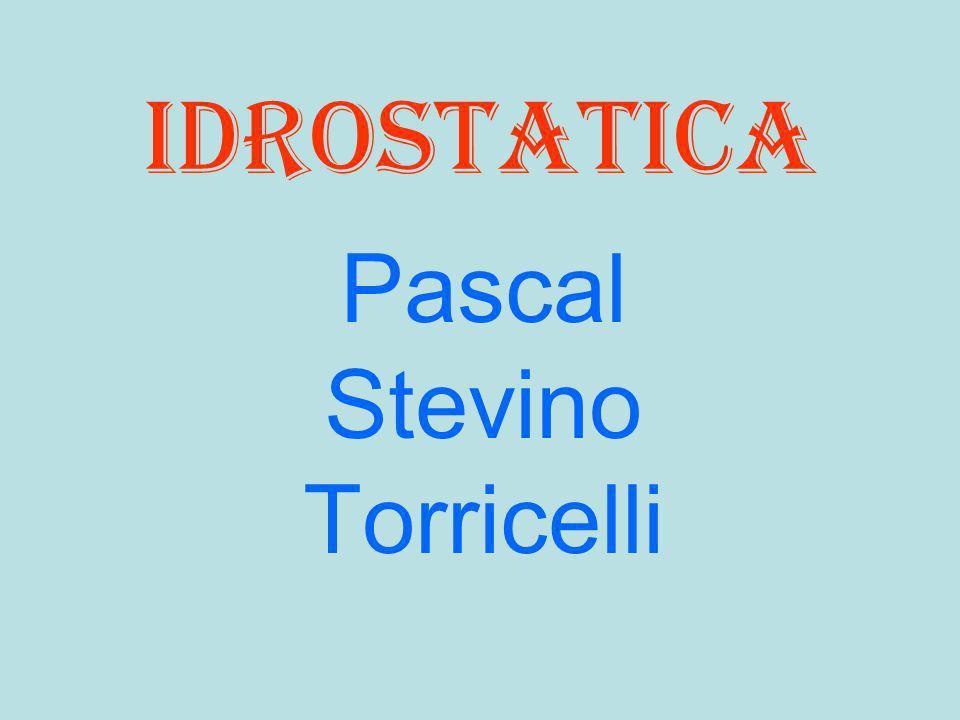 idrostatica Pascal Stevino Torricelli