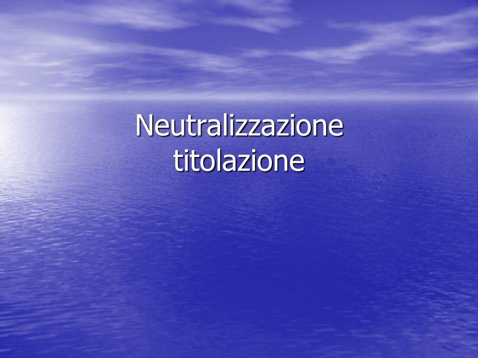 Neutralizzazione titolazione