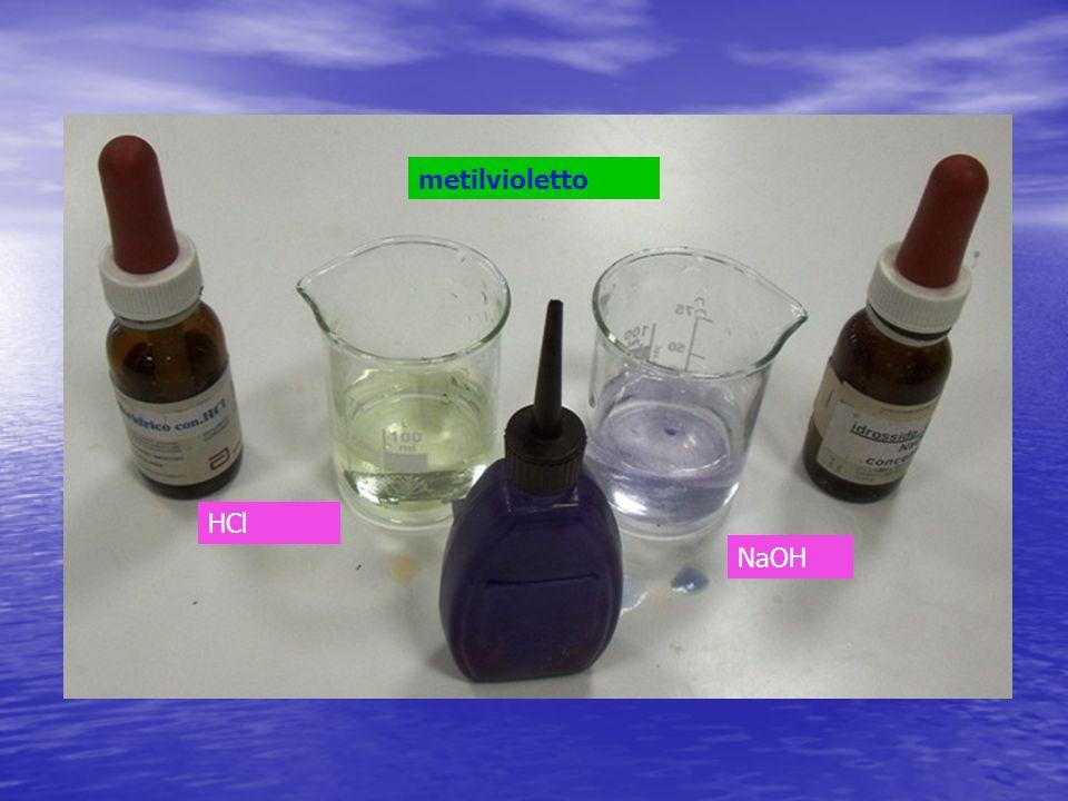 HCl NaOH metilvioletto