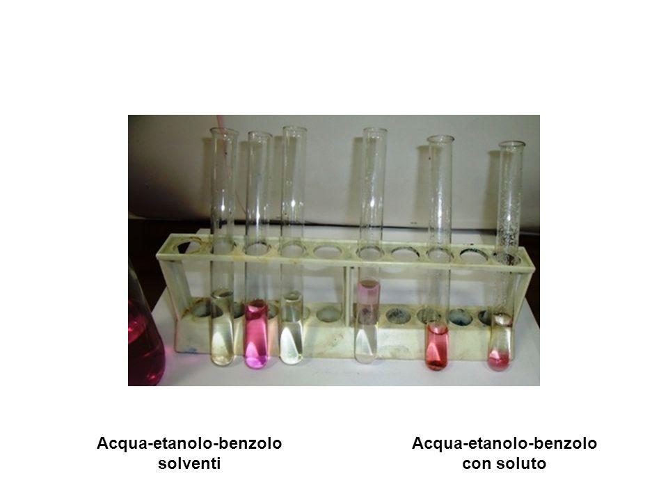 Acqua-etanolo-benzolo solventi Acqua-etanolo-benzolo con soluto