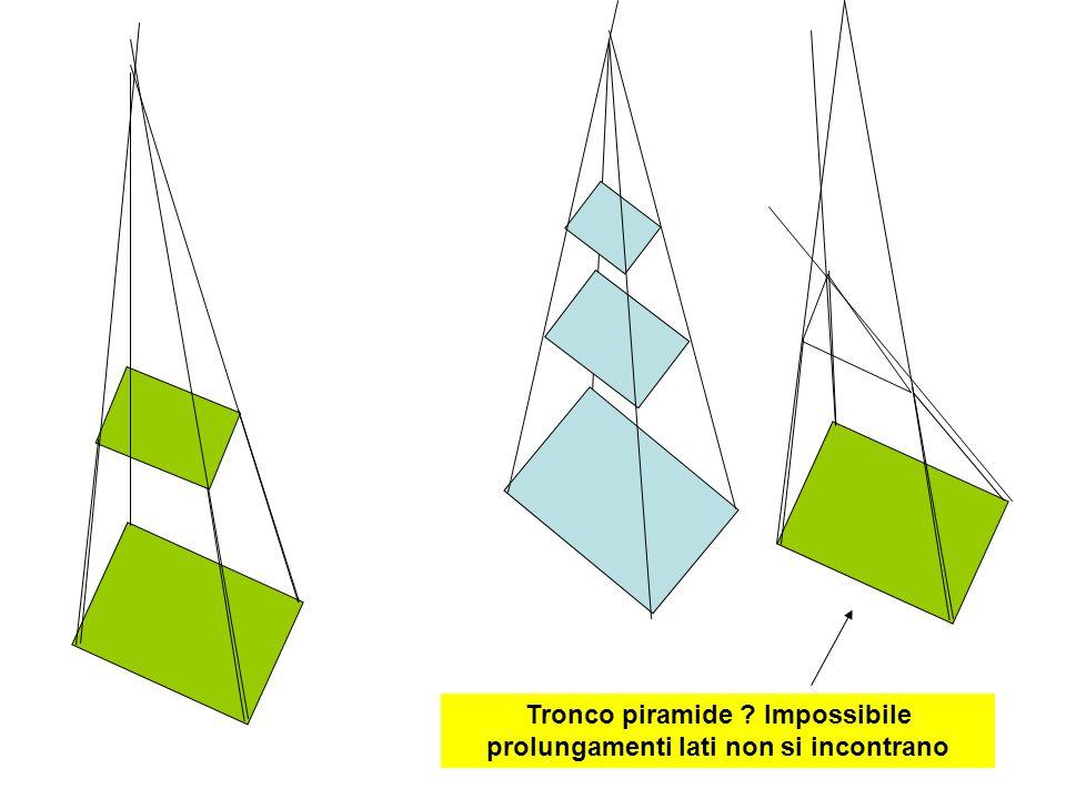 Tronco piramide ? Impossibile prolungamenti lati non si incontrano
