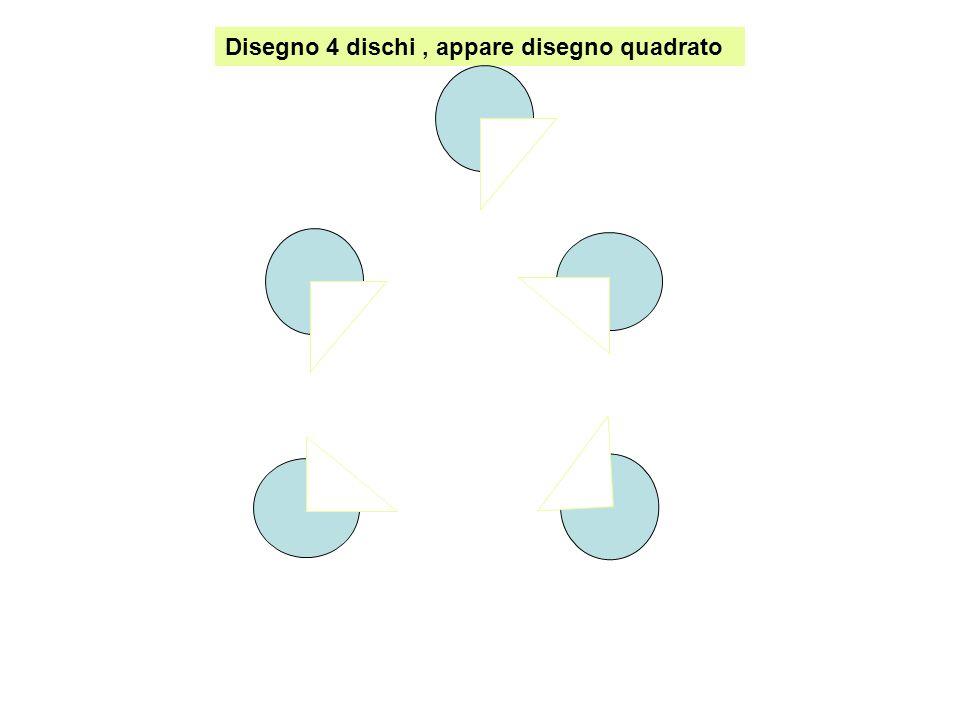 Disegno 4 dischi, appare disegno quadrato