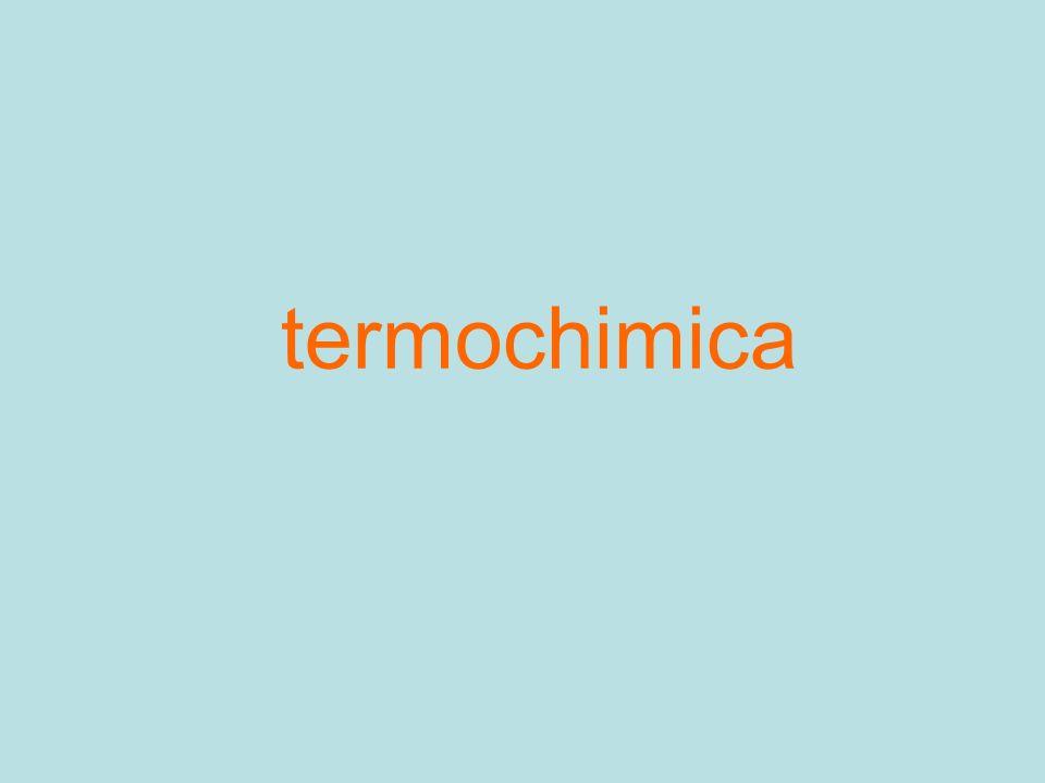 Grandezze termodinamiche Energia interna di un sistema (cinetica, potenziale) di tutti i suoi costituenti Entalpia H Entropia S Energia libera G Spontaneità di una reazione chimica DG < 0