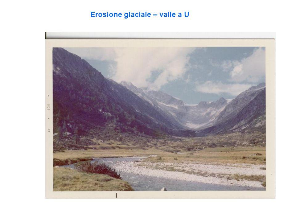 Erosione glaciale – valle a U