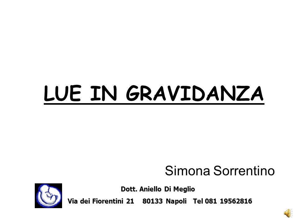 LUE IN GRAVIDANZA Simona Sorrentino Dott.Aniello Di Meglio Dott.