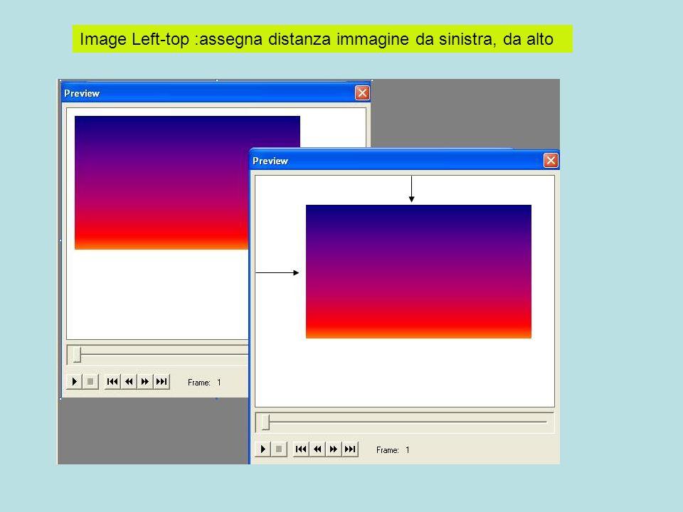 Image Left-top :assegna distanza immagine da sinistra, da alto