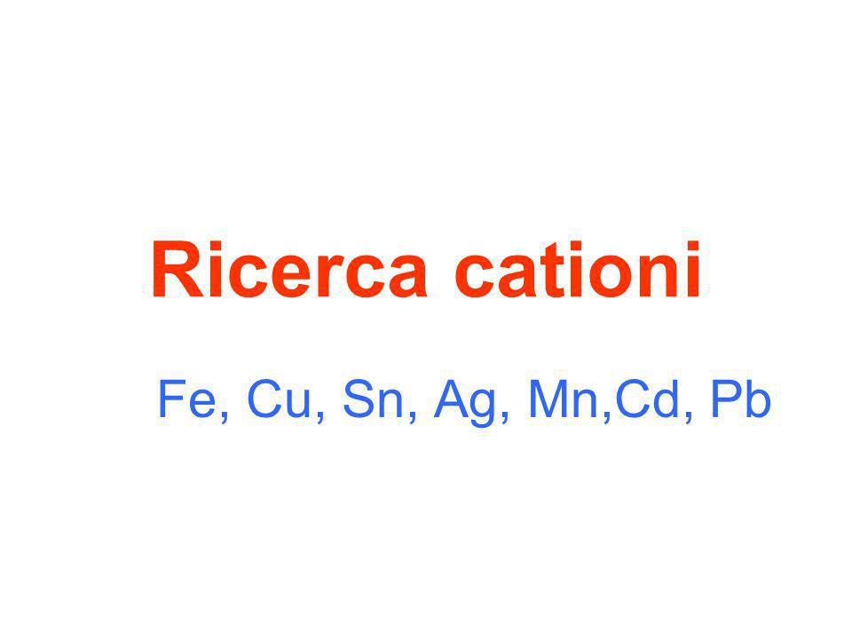 Sale di Nichel più dimetilgliossima >>> soluzione rosea Cliccare per introdurre dimetilgliossima