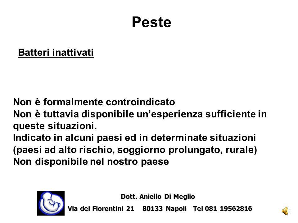 Morbillo-Parotite-Rosolia Virus vivi attenuati Controindicato Dott. Aniello Di Meglio Dott. Aniello Di Meglio Via dei Fiorentini 21 80133 Napoli Tel 0