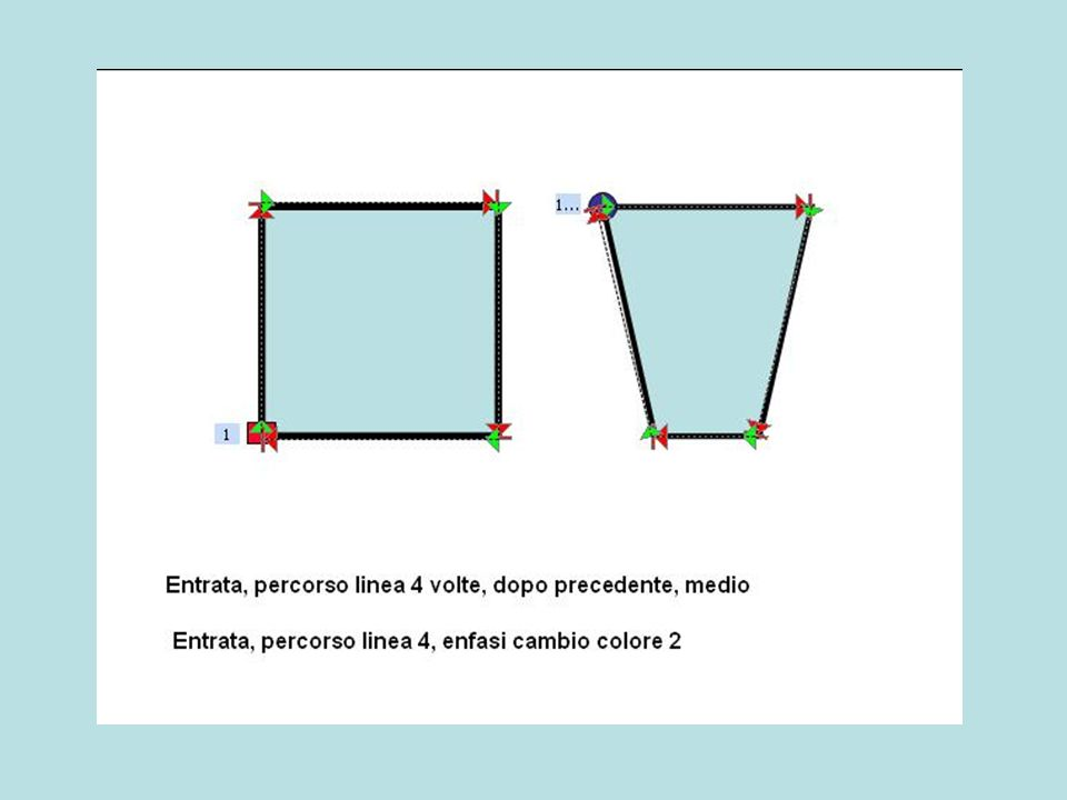 Entrata, percorso linea 4 volte, dopo precedente, medio Entrata, percorso linea 4, enfasi cambio colore 2