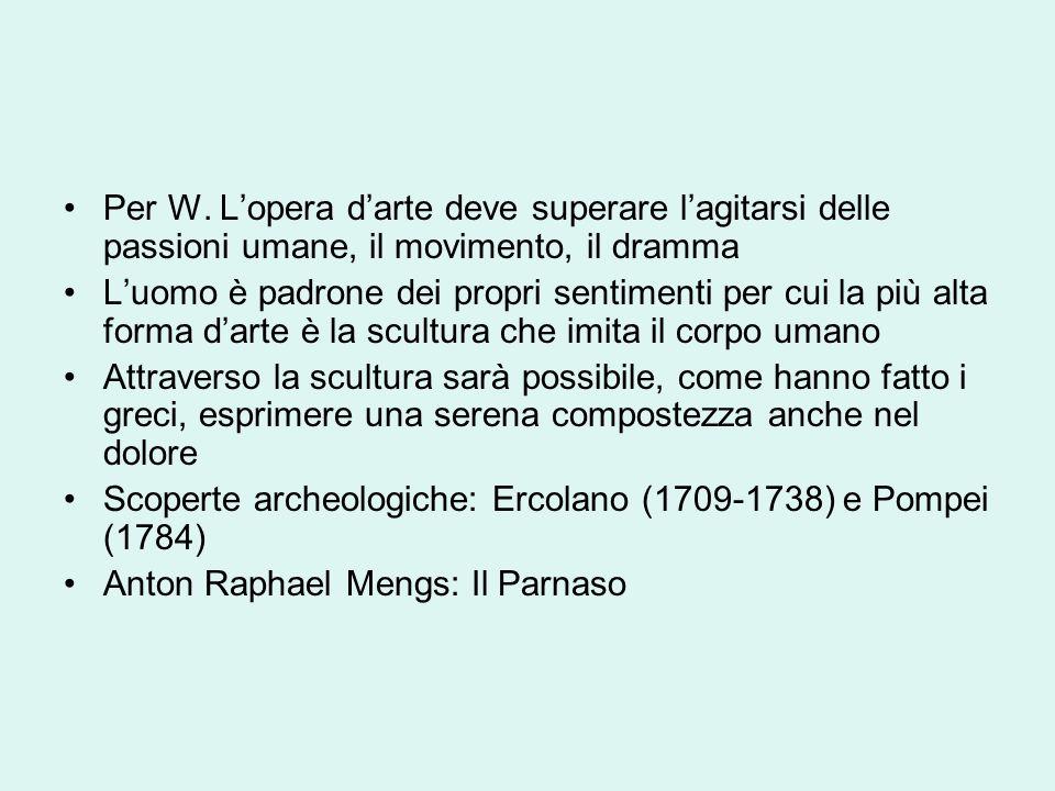 Per W. Lopera darte deve superare lagitarsi delle passioni umane, il movimento, il dramma Luomo è padrone dei propri sentimenti per cui la più alta fo