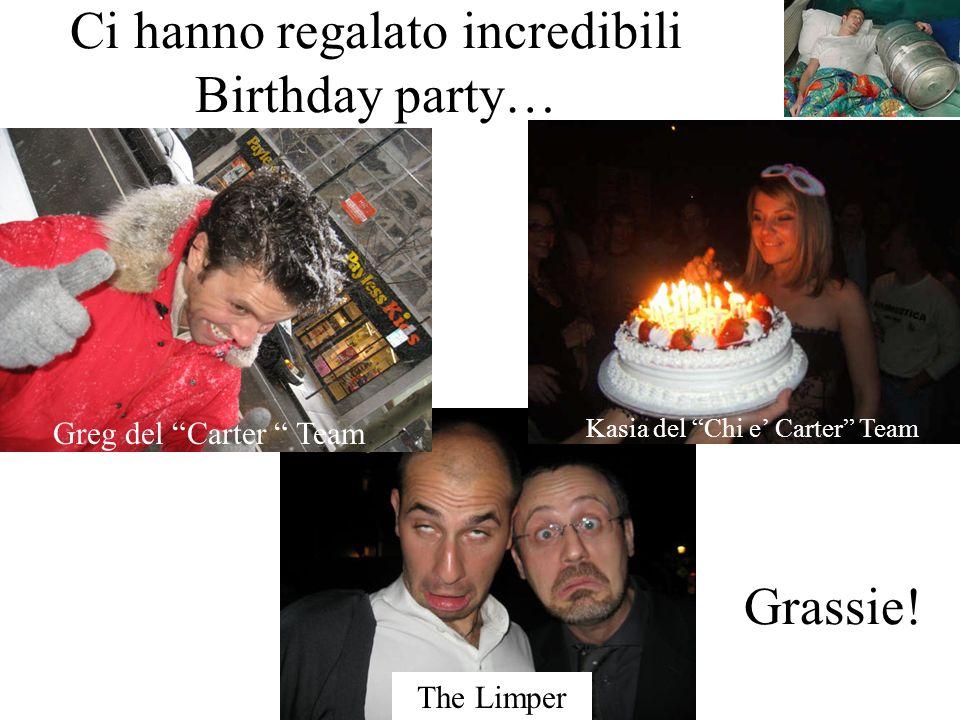 The Limper Ci hanno regalato incredibili Birthday party… Greg del Carter Team Kasia del Chi e Carter Team Grassie!