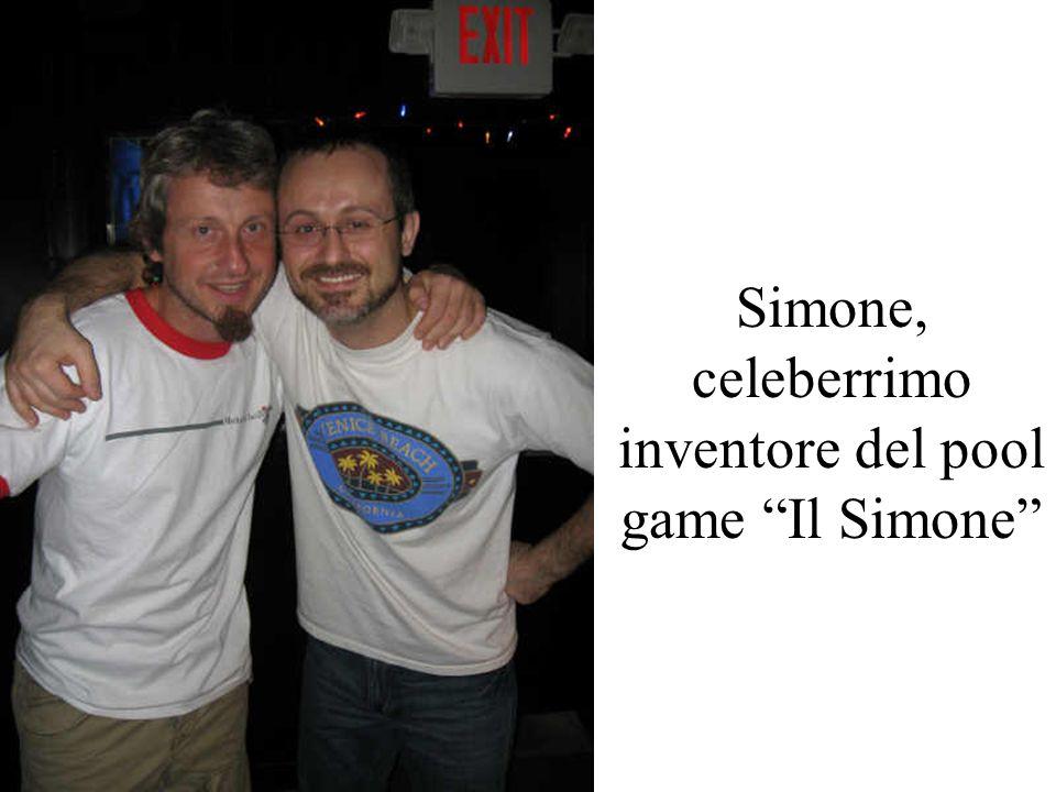 Simone, celeberrimo inventore del pool game Il Simone