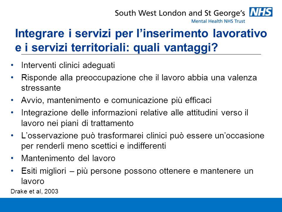 Integrare i servizi per linserimento lavorativo e i servizi territoriali: quali vantaggi.
