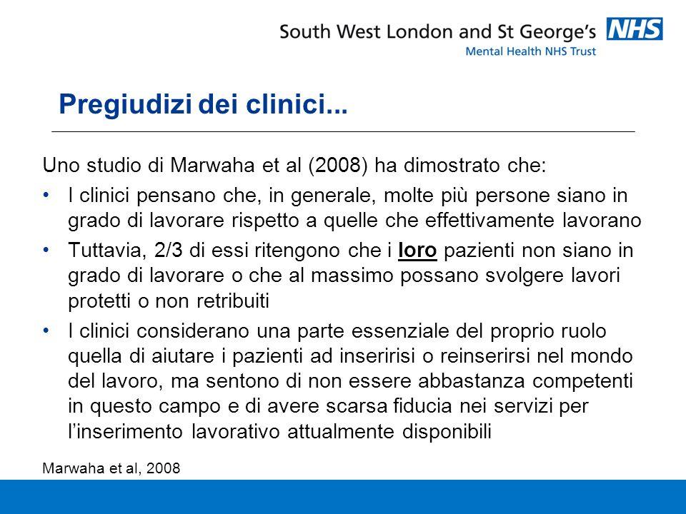 Pregiudizi dei clinici...