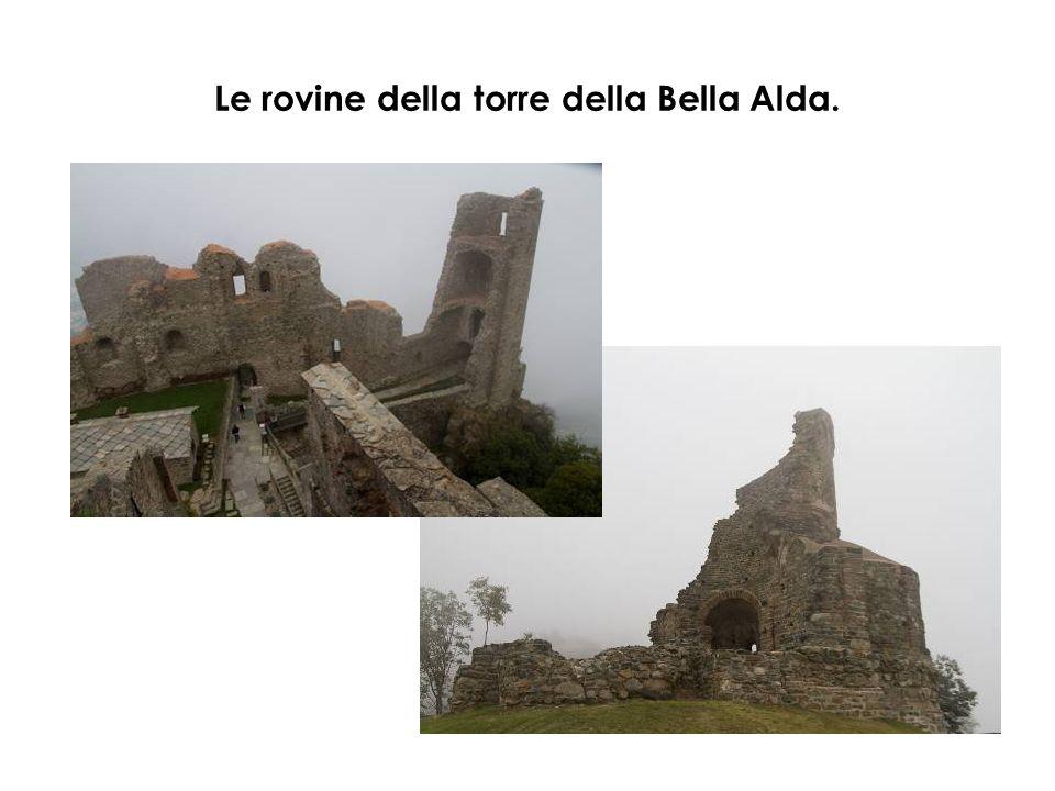Le rovine della torre della Bella Alda.