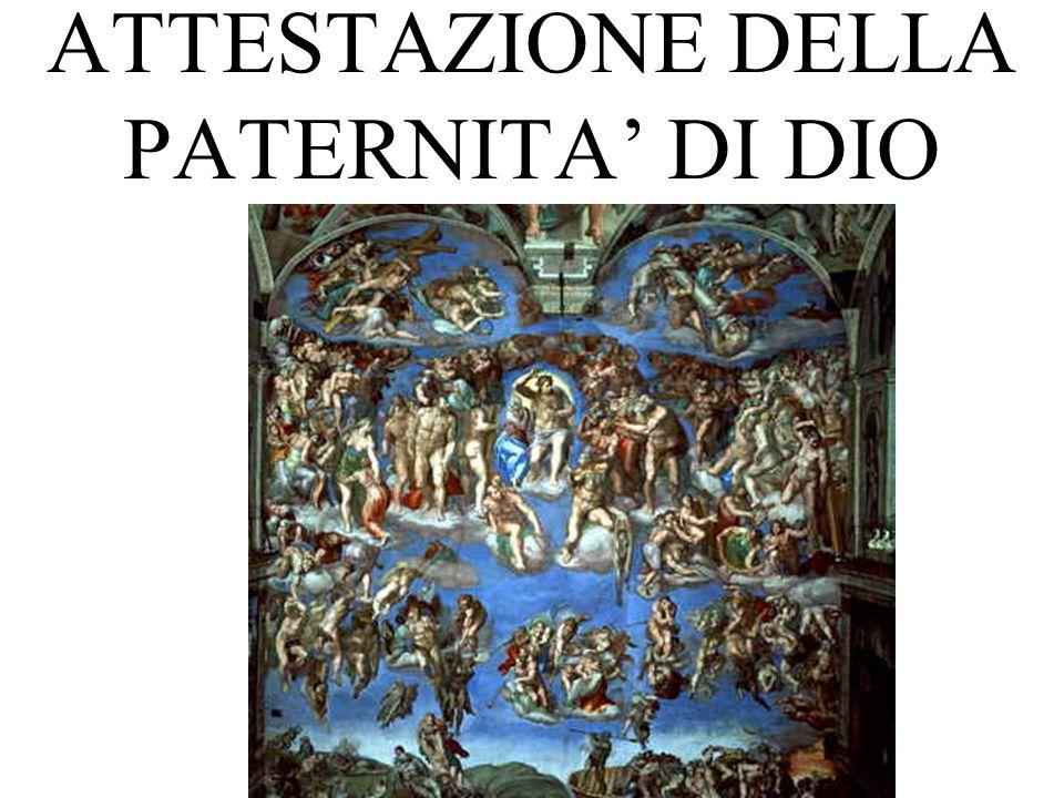 ATTESTAZIONE DELLA PATERNITA DI DIO