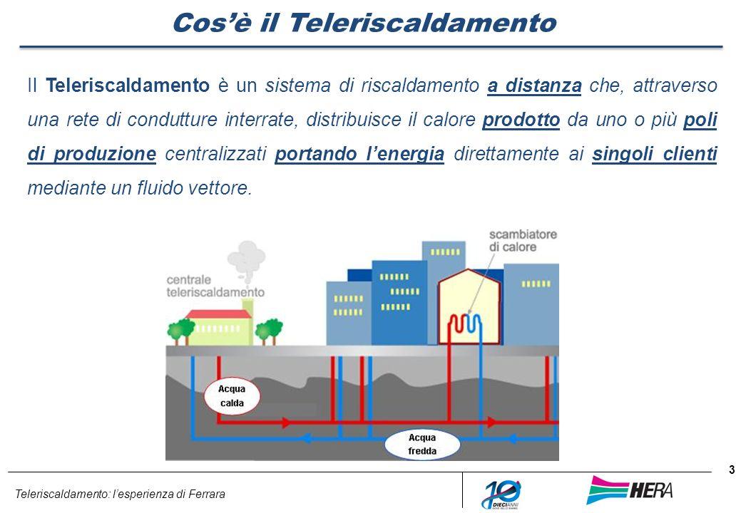 Teleriscaldamento: lesperienza di Ferrara 3 Cosè il Teleriscaldamento Il Teleriscaldamento è un sistema di riscaldamento a distanza che, attraverso un
