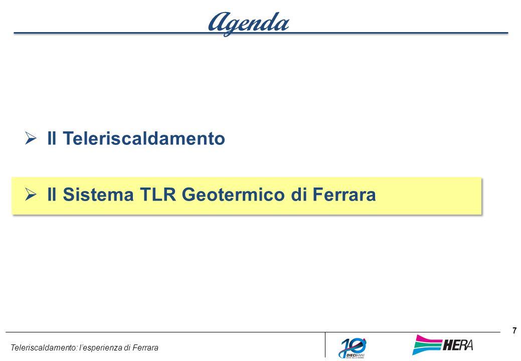 Teleriscaldamento: lesperienza di Ferrara Agenda Il Teleriscaldamento Il Sistema TLR Geotermico di Ferrara 7