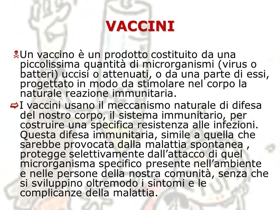 Vaccini – Sistema immunitario Laumento delle cellule Th2 Laumento delle cellule Th2 sopprime cronicamente la possibilità d imbastire una risposta immune efficace contro il tumore o virus.