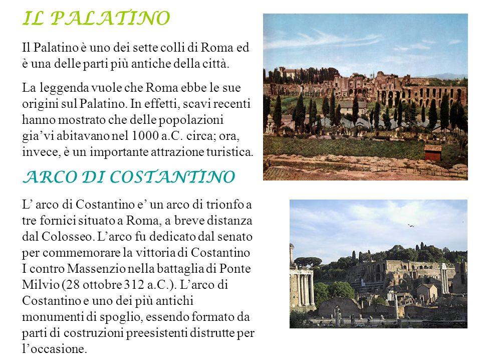 Il Palatino è uno dei sette colli di Roma ed è una delle parti più antiche della città. La leggenda vuole che Roma ebbe le sue origini sul Palatino. I